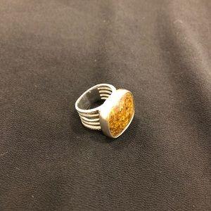 Silpada bronzite stone ring